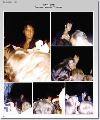 Elvis Presley : July 4, 1969 : Graceland, Memphis, Tennessee.