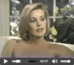 Priscilla Presley with Barbara Walters 1985
