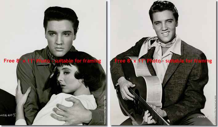 Special Offer: two (2) 8' x 11' (20cm x 28cm) Elvis Photos, suitable for framing