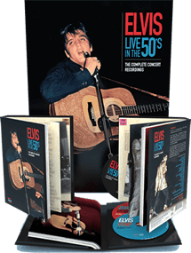 Elvis Live In The 50's : The Complete Concert Recordings 3 CD / 172 page Book Set from MRS.