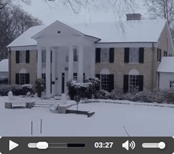 Drone footage of Graceland