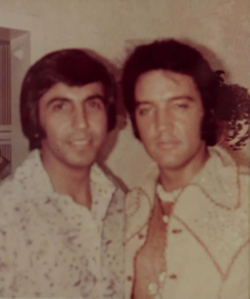 Elvis Presley with Elias Ghanem, backstage at the Tropicana - early Thursday, September 5, 1974.