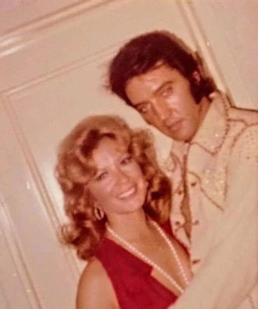 Elvis Presley and Vikki Carr, backstage at the Tropicana - early Thursday, September 5, 1974.